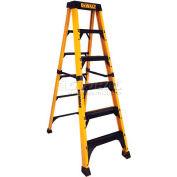 DeWalt 6' Fiberglass Step Ladder, 500 Lb. Load Cap. - DXL3810-06