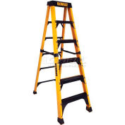 DeWalt 8' Fiberglass Step Ladder, 500 Lb. Load Cap. - DXL3810-08
