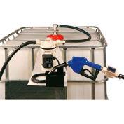 Closed IBC Transfer System 8 GPM Pump W/12' Hose - Automatic Nozzle
