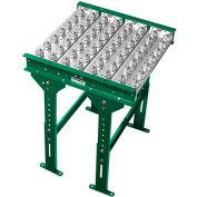 "Ashland Conveyor 2' Ball Transfer Conveyor Table BTIT100204 - 10"" BF - 4"" Ball Centers"