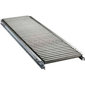 "Ashland 5' Straight Roller Conveyor, 22"" BF, 1-3/8"" Roller Diameter, 3"" Axle Centers"