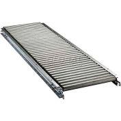 "Ashland 10' Straight Roller Conveyor - 22"" BF - 1-3/8"" Roller Diameter - 4-1/2"" Axle Centers"