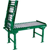 """Ashland 3' Spring Assisted Roller Conveyor Gate - 22"""" BF - 1.9"""" Roller Diameter - 3"""" Axle Centers"""