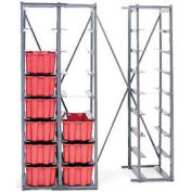 "LEWISBins HR1310 Single Metal Hopper Rack, 3-High, 27""W  x  19-5/16""D  x  27""H"