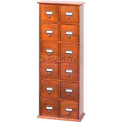 Library Style CD File Drawer Cabinet Walnut, 144 CDs