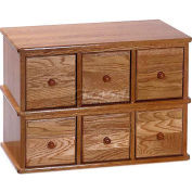 Apothecary Style Multimedia Storage Cabinet Oak, 150 CDs/48 DVDs