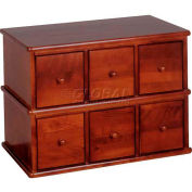 Apothecary Style Multimedia Storage Cabinet Walnut, 150 CDs/48 DVDs