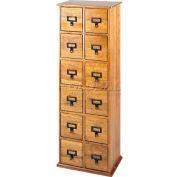 Library Style Multimedia File Drawer Cabinet Oak