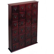 Library Style CD File Drawer Cabinet Cherry, 288 CDs