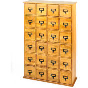 Library Style Multimedia File Drawer Cabinet Oak, 456 CDs/192 DVDs