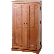Mission Style Multimedia Storage Cabinets Dark Oak
