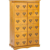 Library Card File Door Front Multimedia Storage Cabinets Oak