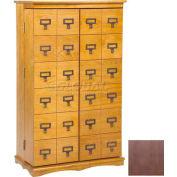 Library Card File Door Front Multimedia Storage Cabinets Dark Oak