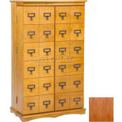Library Card File Door Front Multimedia Storage Cabinets Walnut