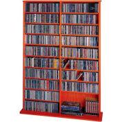 Open Wall Multimedia Storage Rack Cherry, 1000 CDs/408 DVDs