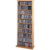 Open Wall Multimedia Storage Rack Oak, 500 CDs/240 DVDs