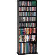 Open Wall Multimedia Storage Rack Black, 500 CDs/240 DVDs
