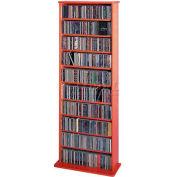 Open Wall Multimedia Storage Rack Cherry, 500 CDs/240 DVDs