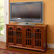 Mission Style Flat Panel TV Console Walnut