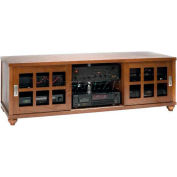 Contemporary Style Flat Panel TV Console Walnut