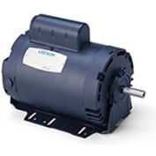 Leeson Motors-1/2HP, 115/208-230V, 3450RPM, DP, Resilient Base Mount, 1.0 SF, 66 Eff.