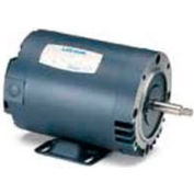 Leeson Motors 3-Phase Pump Motor 1/2HP, 3450RPM, 48, DP, 208-230/460V, 60HZ, 40C, 1, 25SF, C Face