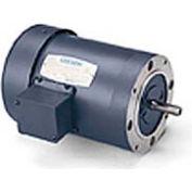 Leeson 102666.00, Standard Eff., 0.5 HP, 1725 RPM, 208-230/460V, 48CZ, TEFC, C-Face Footless