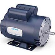 Leeson Motors-1/2HP, 115/208-230V, 3450RPM, DP, Rigid Mount, 1.25 SF, 66 Eff
