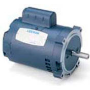 Leeson Motors Single Phase Pump Motor 1.5HP, 3450RPM, 56, DP, 115/208-230V, 60HZ, Auto, 40C, C Face