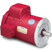 Leeson Motors Motor Electric Motor-1/2HP, 115/208-230V, 1725RPM, TEFC, Round Mount, 1.15 S.F.