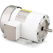 Leeson Motors Motor Washdown Motor-1/3HP, 208-230/460V, 1725RPM, TEFC, RIGID C, 1.15 SF, 68 Eff.
