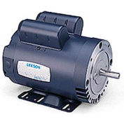 Leeson Electric Motor - 2HP, 115/208-230V, 1725RPM, DP, Rigid C Mount, 1.15 S.F.