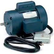 Leeson Motors Single Phase Woodworking Motor 1.5 HP, 3450RPM, 56, TEFC, 115/230V, 60HZ, Manual, 40C