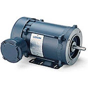 Leeson Motors - 1.5/1HP, 208-230/460V, 3450/2850RPM, EPFC, Rigid Mount, 1.0 S.F.