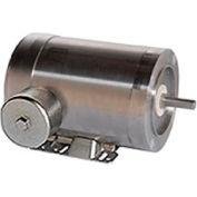 Leeson Motors Motor Washdown Motor-1/2HP, 208-230/460V, 3450/2850RPM, TENV, RIGID C,  82.5 Eff.