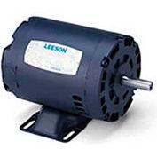 Leeson 121514.00, Premium Eff., 1.5 HP, 3490 RPM, 208-230/460V, 143T, DP, Rigid