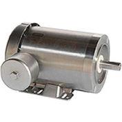 Leeson Motors Motor Washdown Motor-1.5/1HP, 208-230/460V, 1740/1440RPM, TEFC, C FACE,  84 Eff.