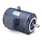 Leeson G131490.00, Premium Eff., 5 HP, 1740 RPM, 208-230/460V, 184TC, DP, C-Face Footless