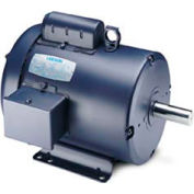 Leeson Motors-3HP, 115/208-230V, 1740RPM, TEFC, Rigid Mount, 1.0 SF, 77 Eff.