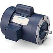Leeson Motors-5HP, 230V, 1740RPM, TEFC, C Face Mount, 1.0 SF, 81 Eff.