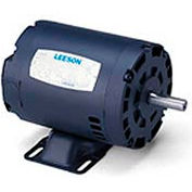 Leeson 131986.00, Premium Eff., 5 HP, 3515 RPM, 208-230/460V, 184T, DP, Rigid