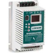 Leeson Motors AC Controls Sub-Micro Series VFD Drive , IP20, 3PH, 3HP, 208/240V