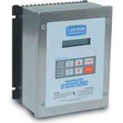 Leeson Motors AC Controls Washdown Duty Micro Series Drive VFD,NEMA 4X,3PH,1HP,400-480V