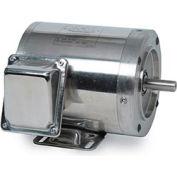 Leeson Motors Motor Washdown Motor-.75/.5HP, 208-230/460V, 3450/2850RPM, TENV, RIGID C,  78.5 Eff.