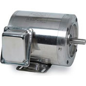 Leeson Motors Motor Washdown Motor-.75/.5HP, 208-230/460V, 1740/1440RPM, TENV, C FACE,  82.5 Eff.