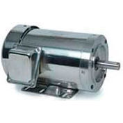 Leeson Motors 3-Phase Washguard Duty Motor 1.5/1HP, 3450/2850RPM, 56H, TEFC, 208 230/460V, 60/50HZ