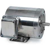 Leeson 191415.00, Standard Eff., 0.75 HP, 1140 RPM, 208-230/460V, 56C, TENV, C-Face Rigid
