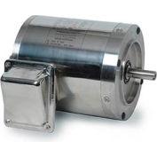 Leeson 191419.00, Standard Eff., 0.5 HP, 1140 RPM, 208-230/460V, 56C, TENV, C-Face Footless