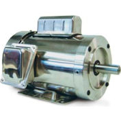 Leeson Motors Motor Washdown Motor-.75HP, 115-208/230V, 1800RPM, TEFC, RIGID C, 1.15 SF, 72 Eff.