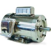 Leeson Motors Motor Washdown Motor-1.5HP, 115-208/230V, 3600RPM, TEFC, RIGID C, 1.15 SF, 0 Eff.